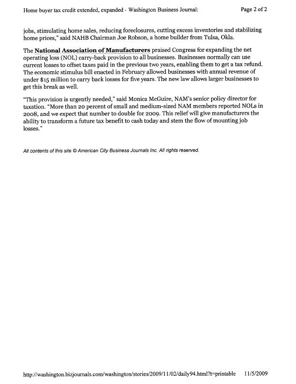 Washington Biz Journal - tax credit extension-2